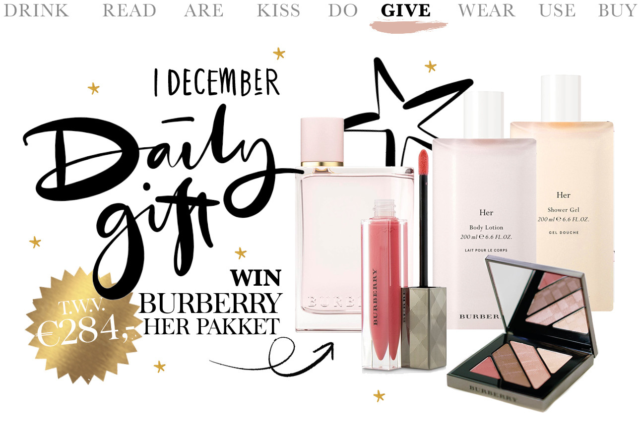 adventskalender Burberry Her pakket 1 december