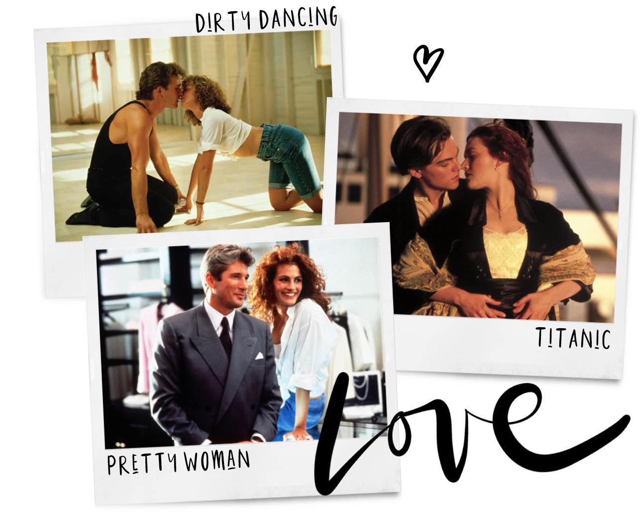 pretty woman, dirty dancing, titanic, vintage love maand