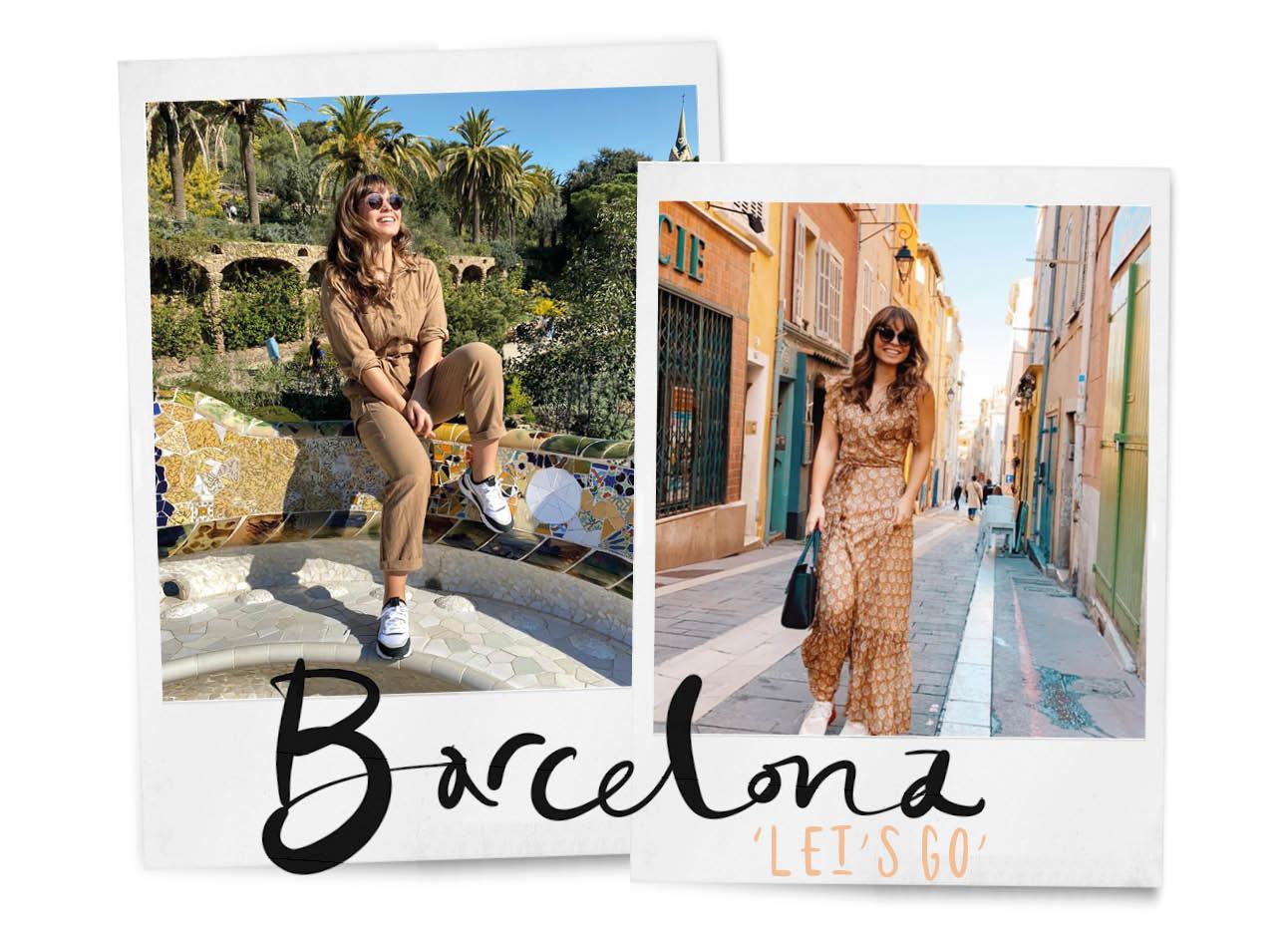 Vrouw loopt in barcelona