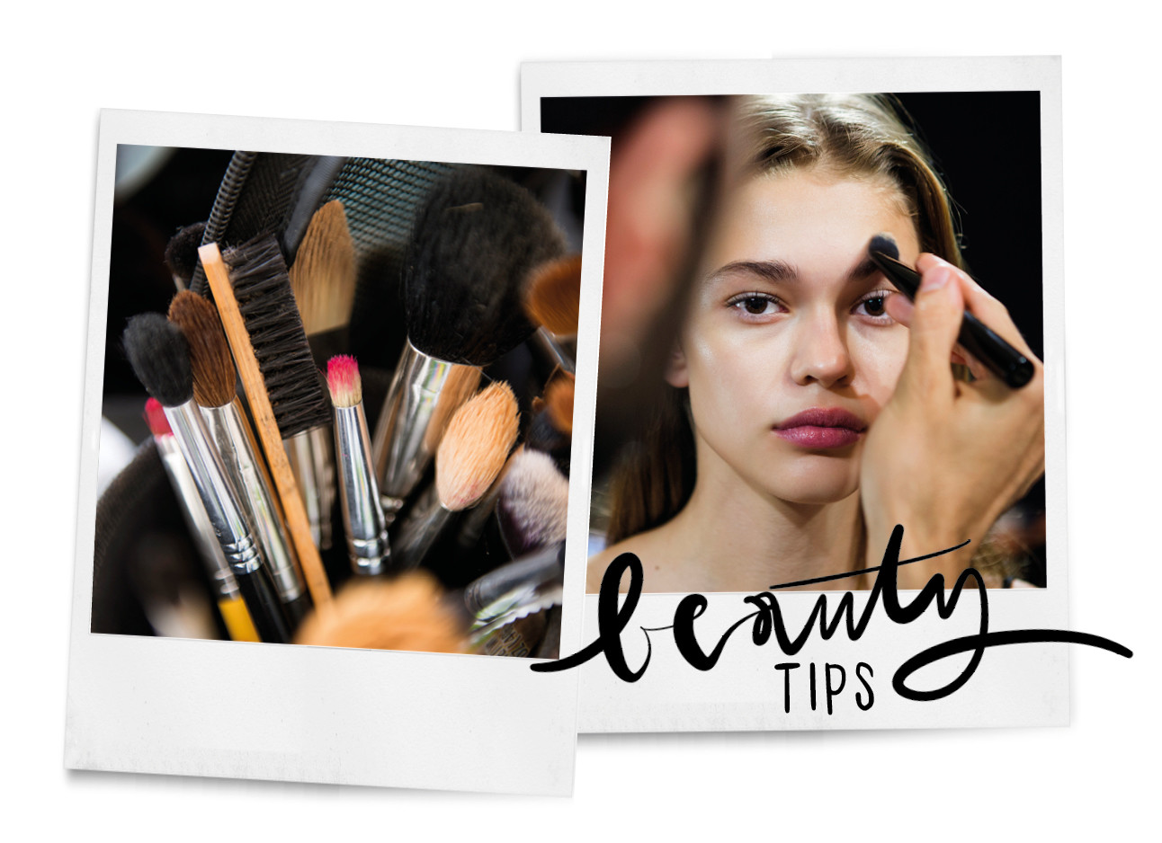 beauty tips kwasten en make up vrouw model backstage fashionshow
