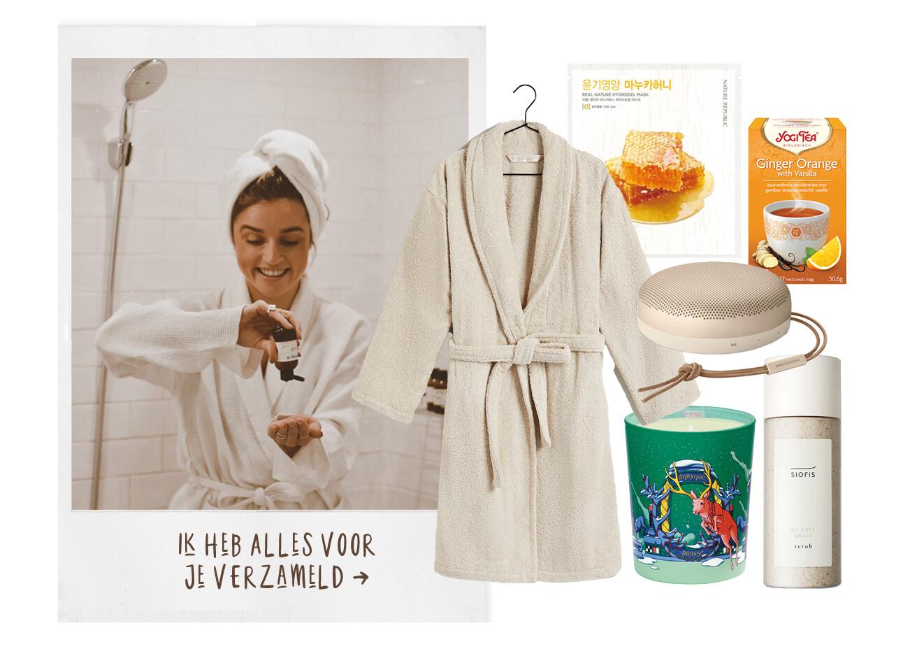 Lotte van scherpenzeel badkamer handdoek shopping beauty items