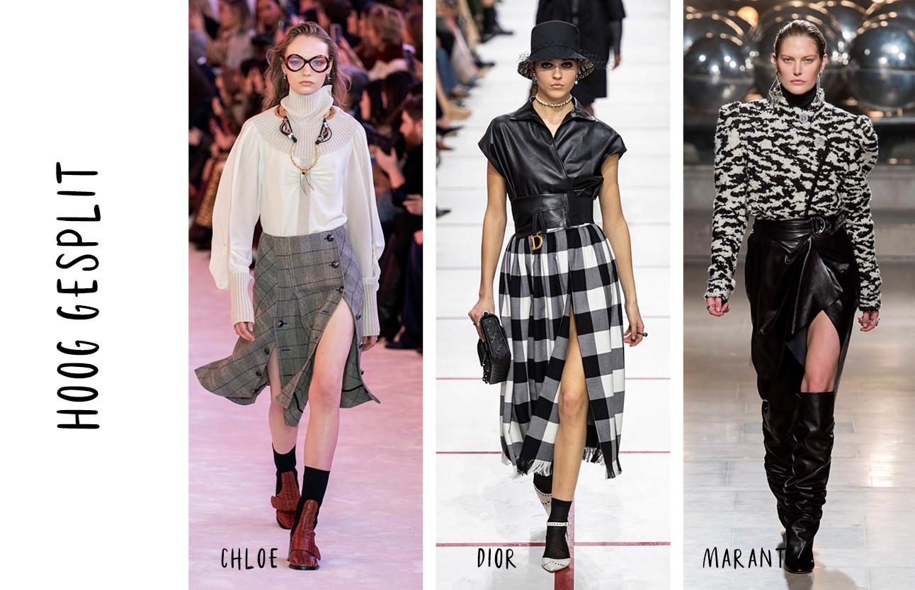 Beelden van de modeshows met verschillende stijlen