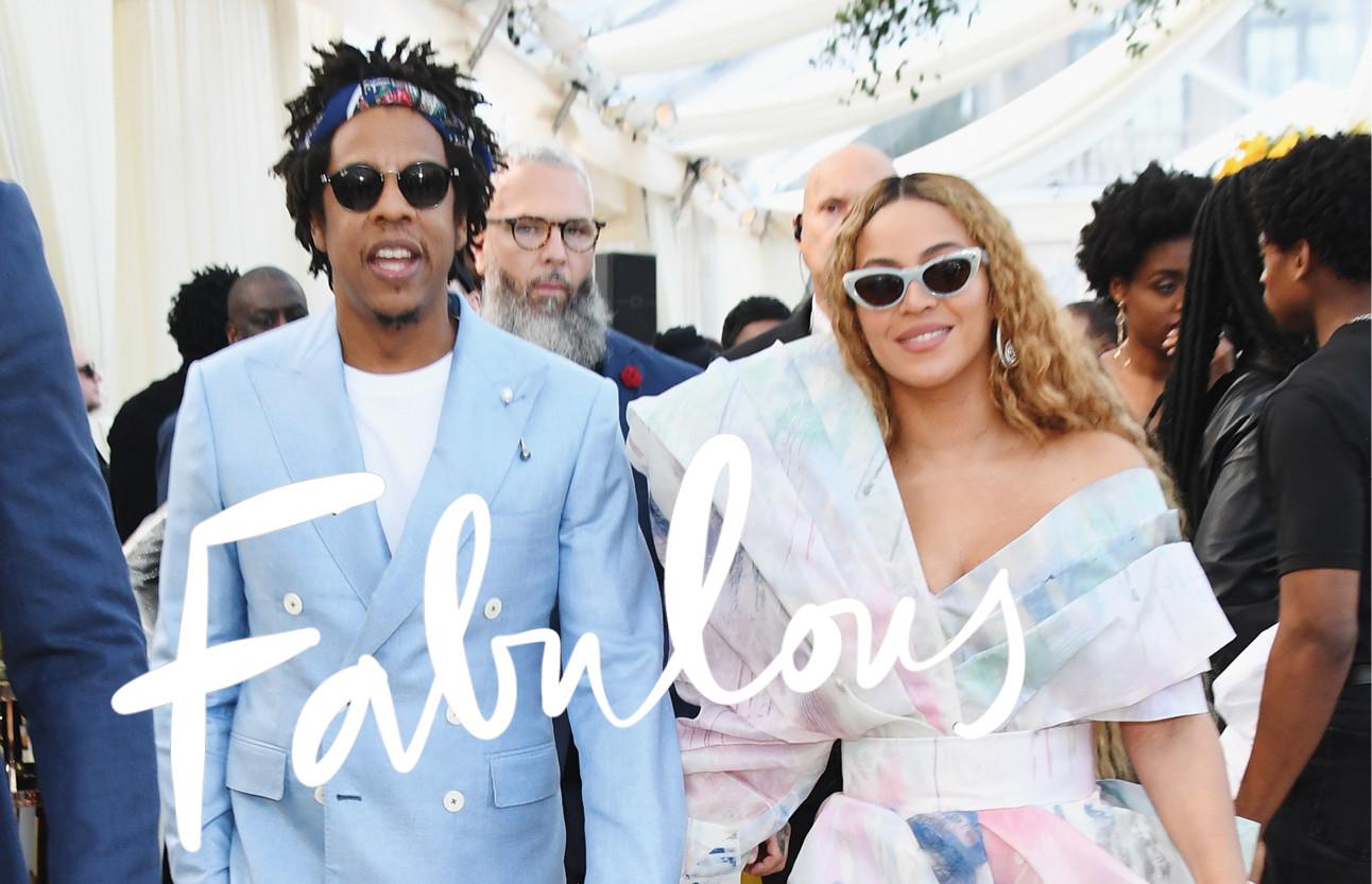 Beyonce en Jayz op de rode loper met zonnebril op