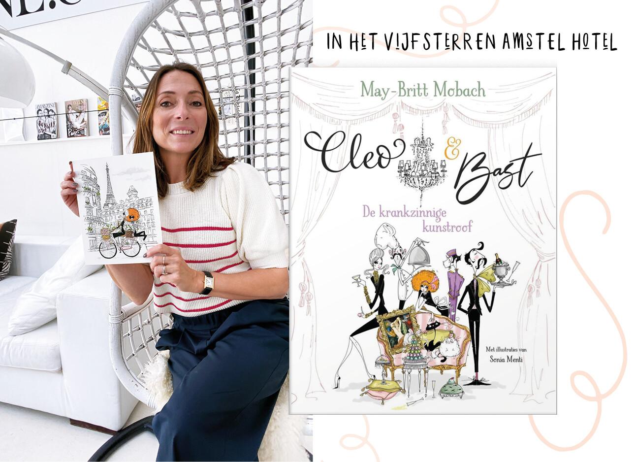 MAy-britt met boek Cleo & Bast