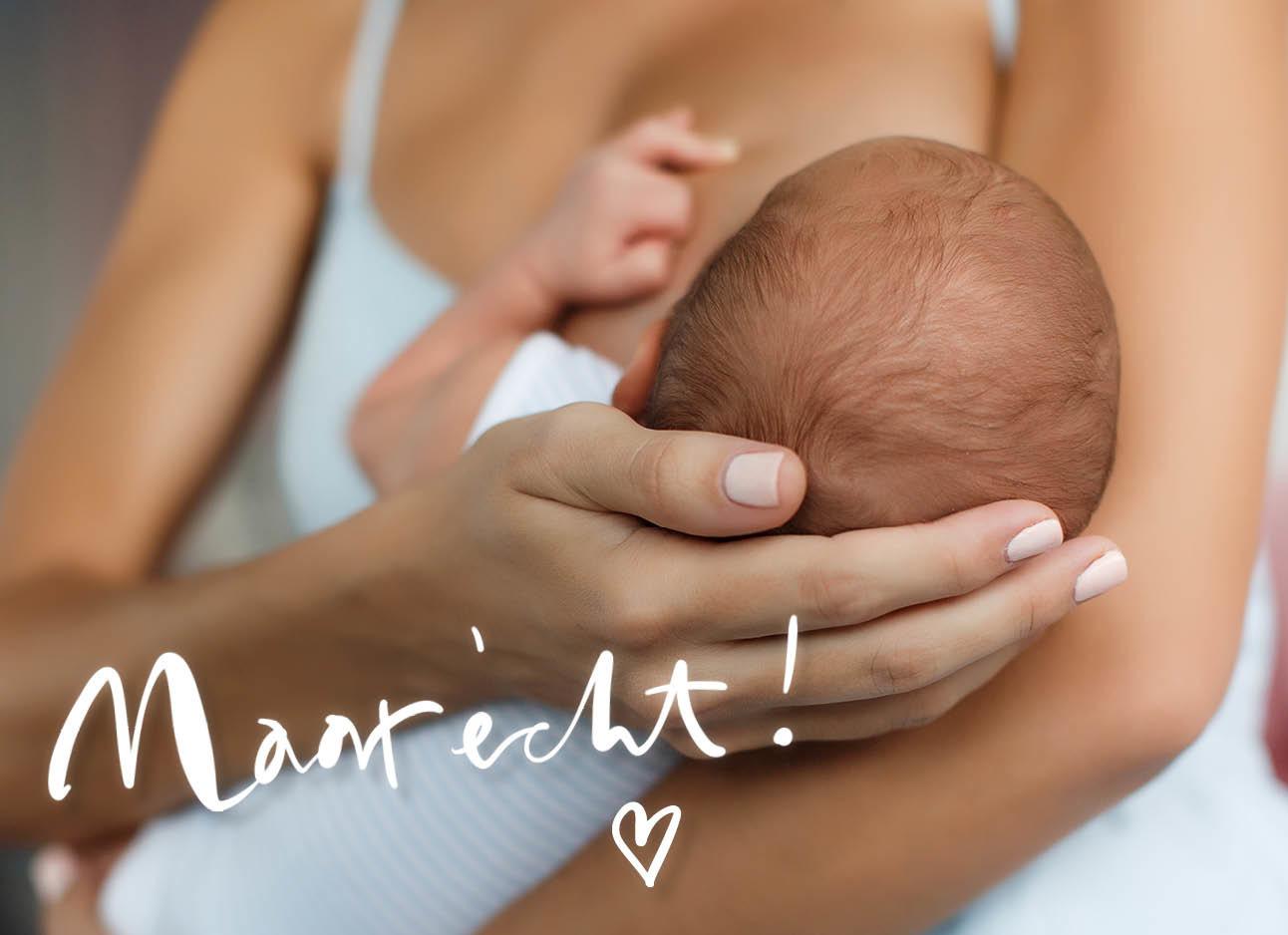 vrouw geeft borstvoeding aan een pasgeboren baby