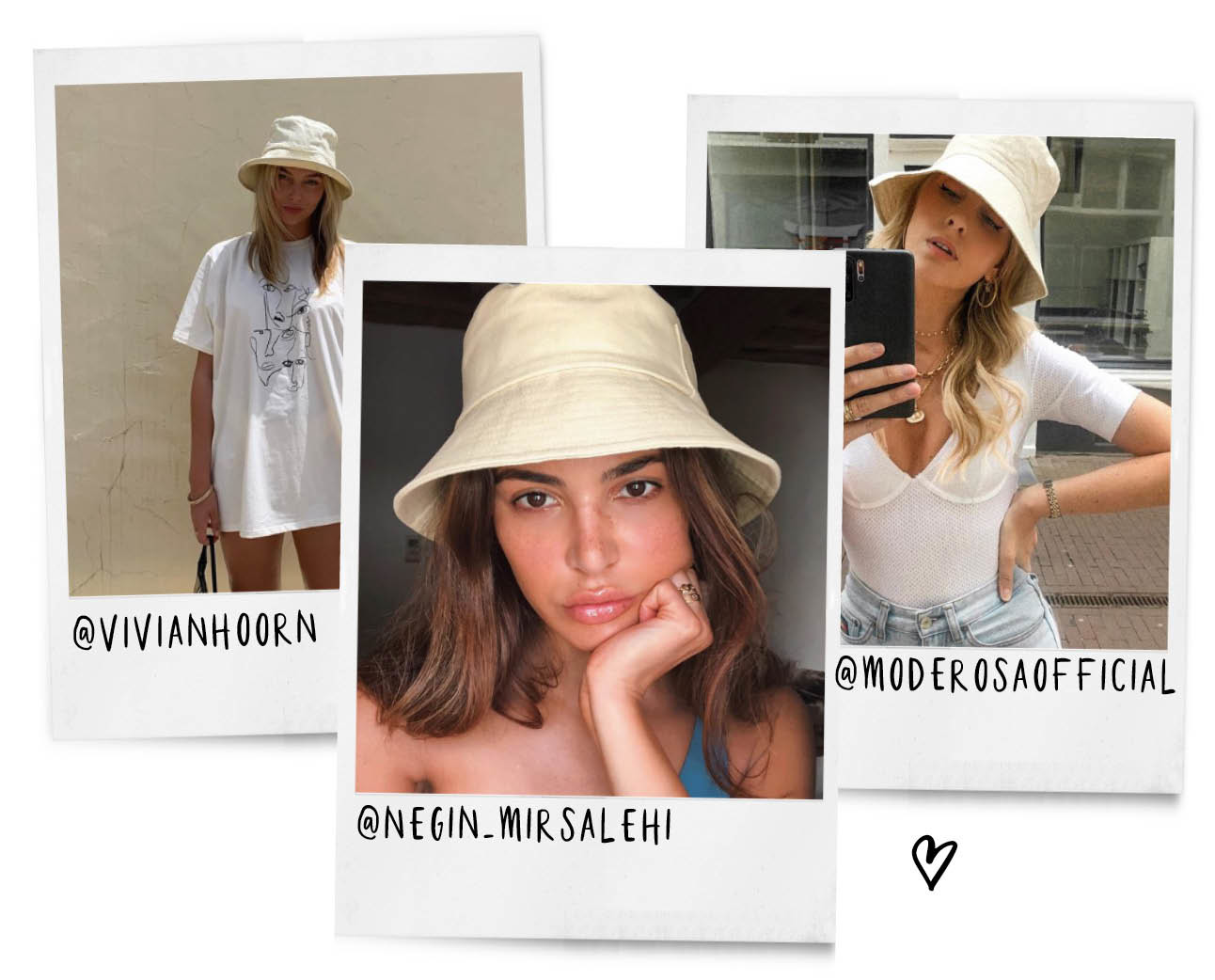 buckethat, instagram girls, vivian hoorn, negin mirsalehi, mode rosa