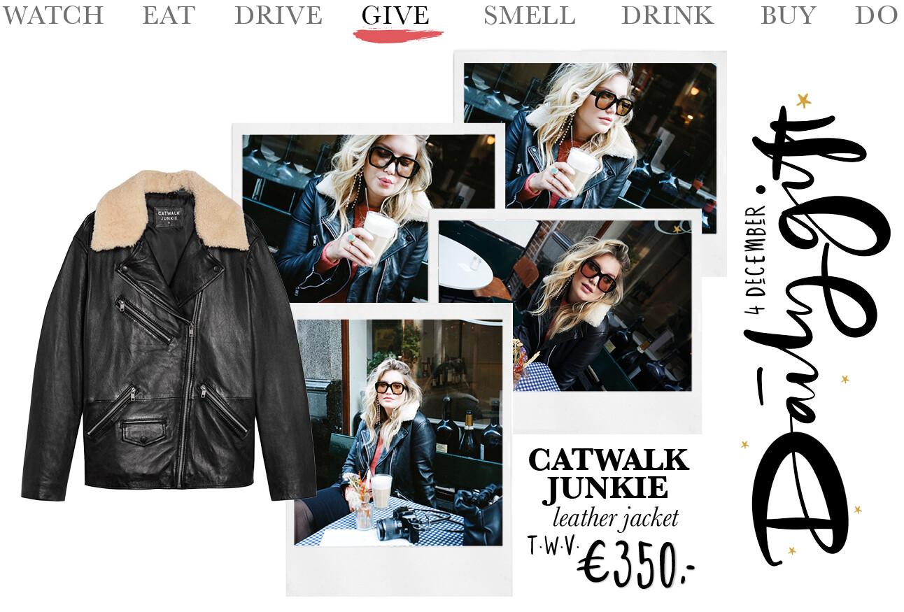 Today we give: een Leather Jacket Biker Catwalk Junkie