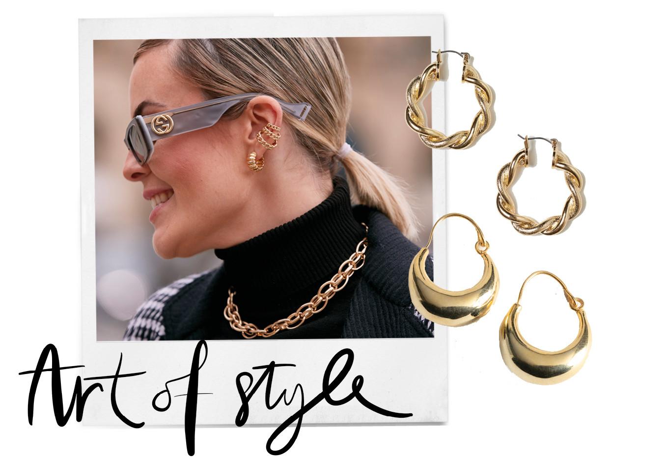 closeup beeld vrouw met chunky sieraden