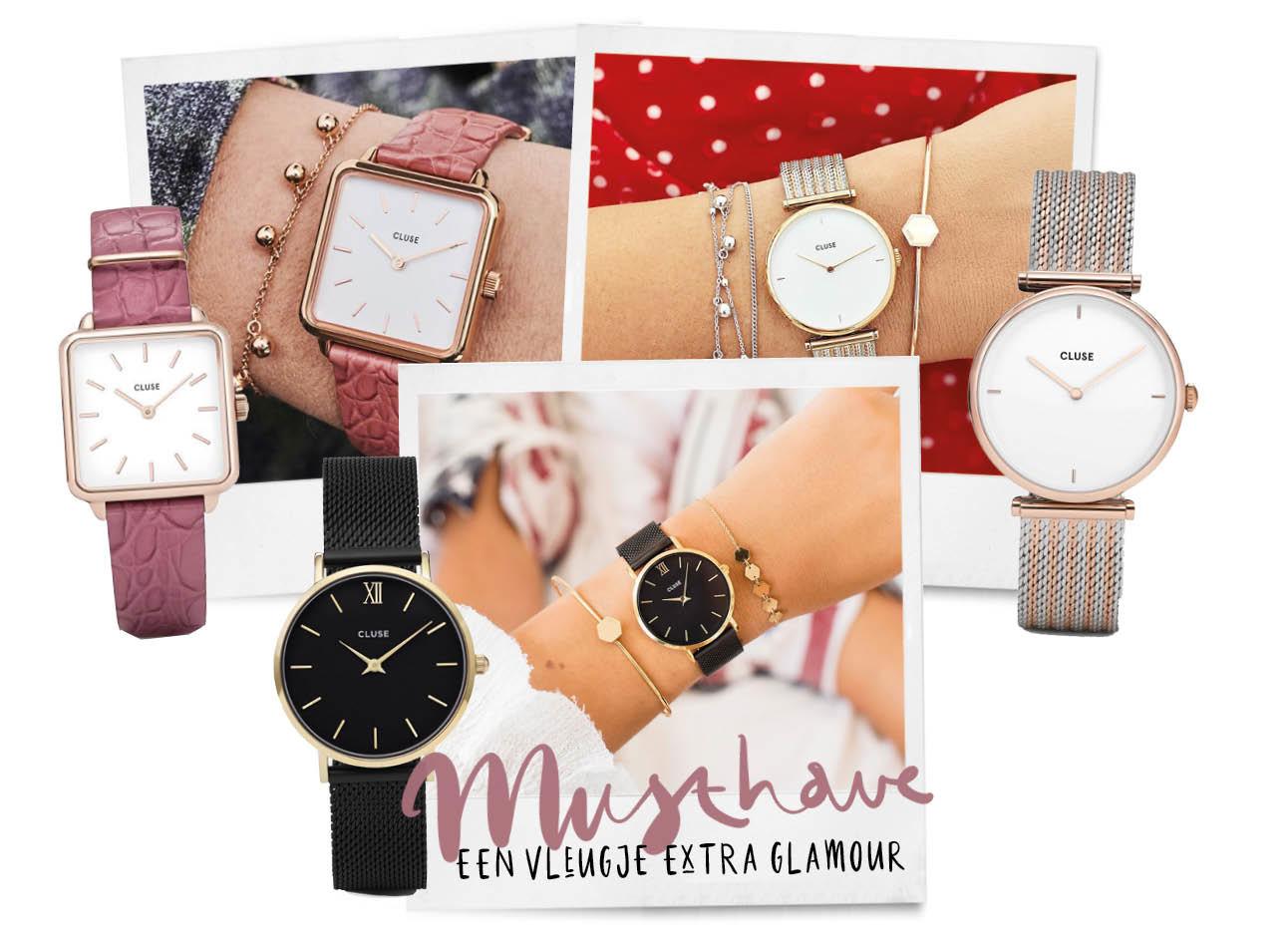 Cluse horloges verschillende modellen Minuit-collectie La Tétragone de Triomphe
