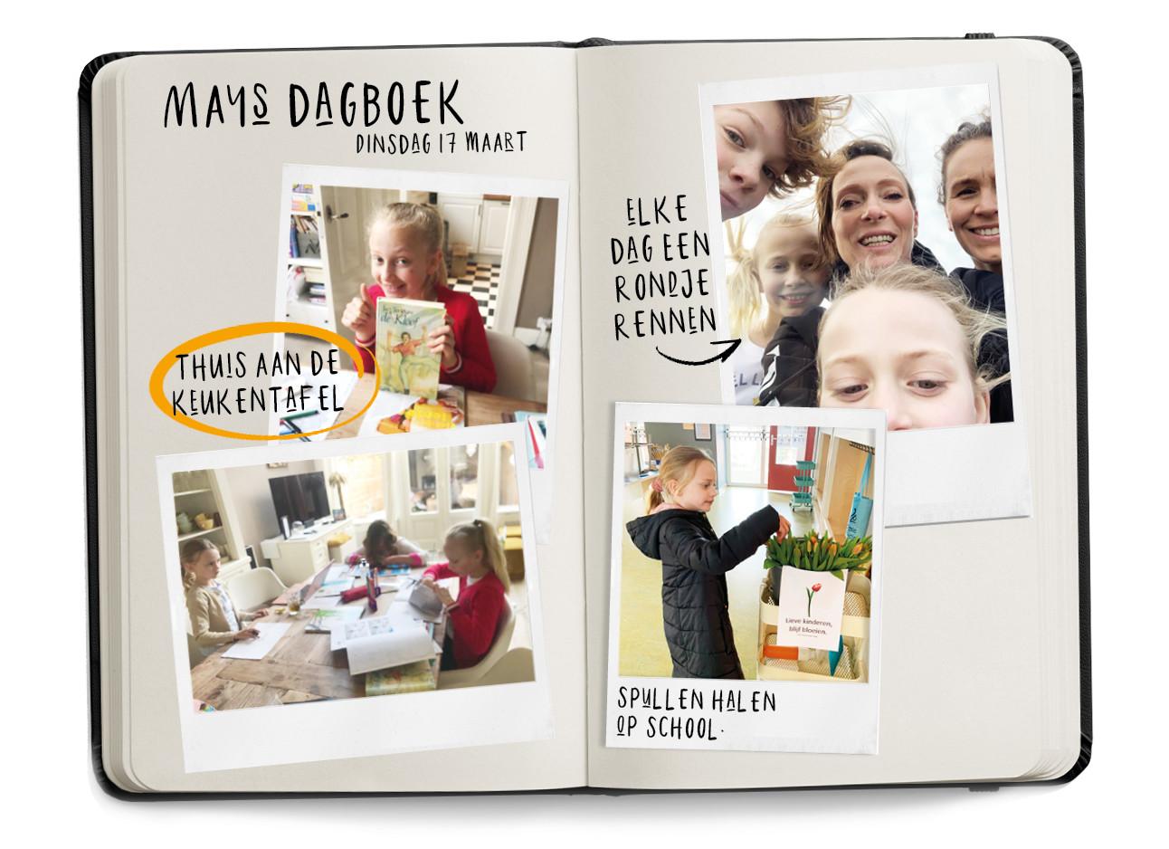 mays dagboek met de kinderen thuis