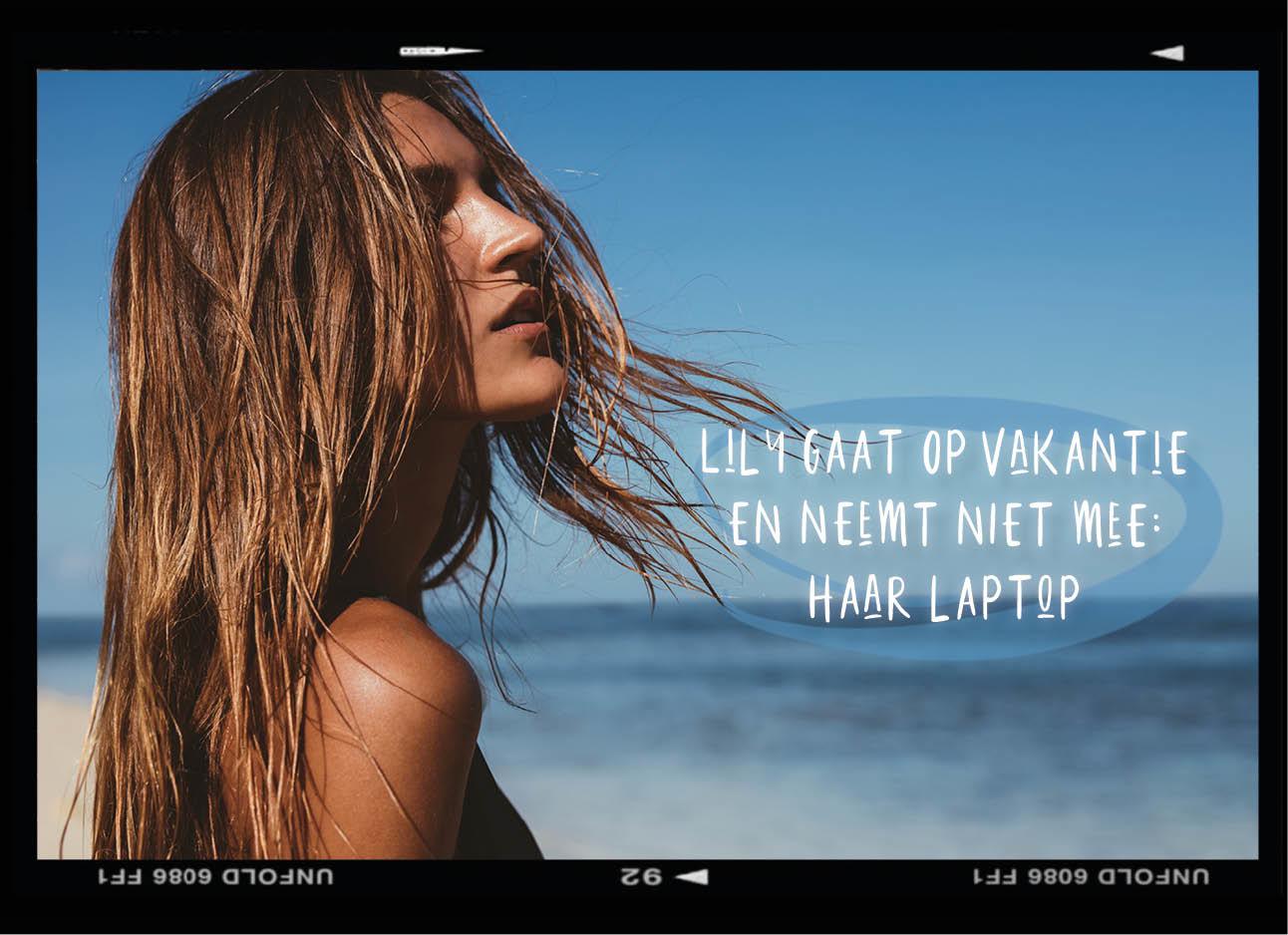 dagboek van een model, tan model, brown hair, beach