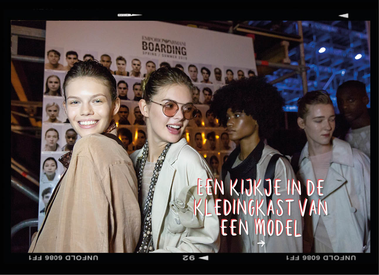 modellen backstage fashionshow