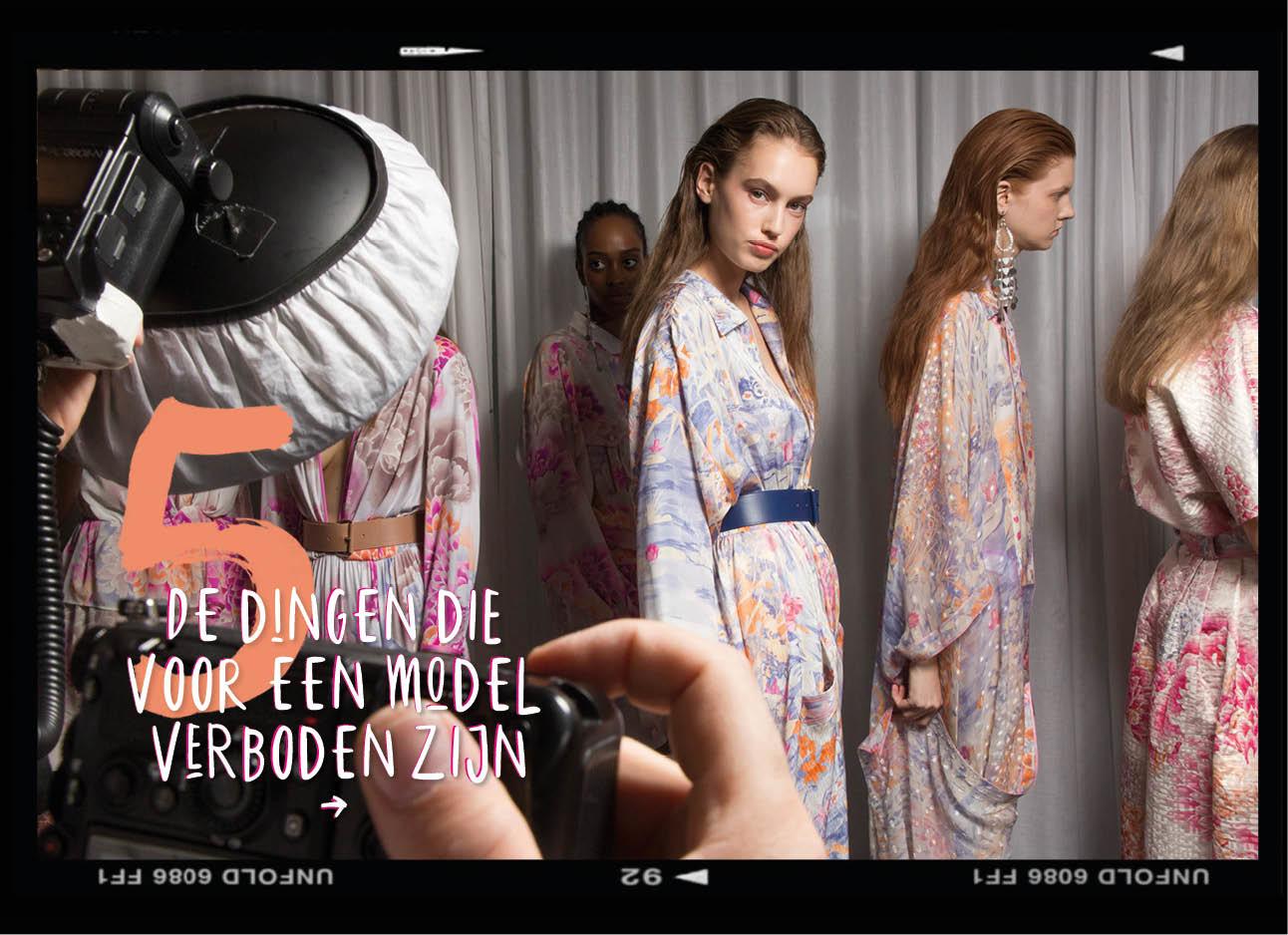Dagboek van een model modellen backstage bij fashionshow