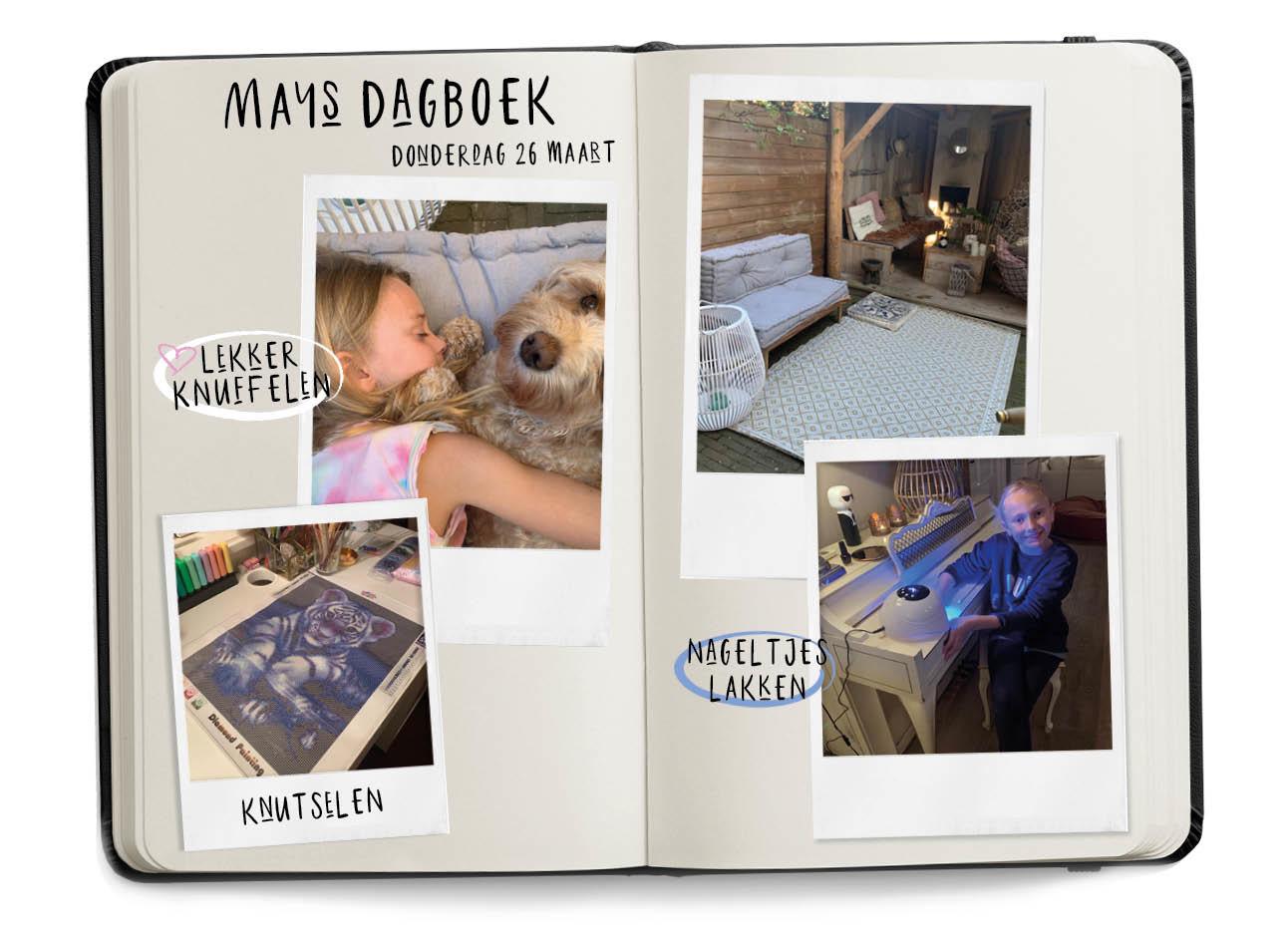 LEVEN IN TIJDEN VAN CORONAdagboek van may en de meisjes thuis