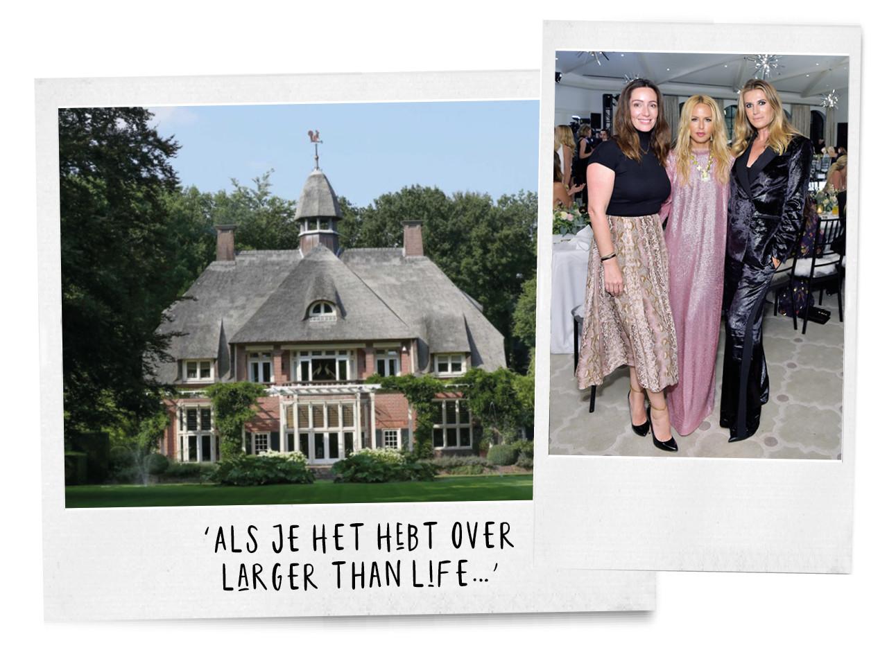 Danielle Oerlemans met 2 celebrity friends en haar huis