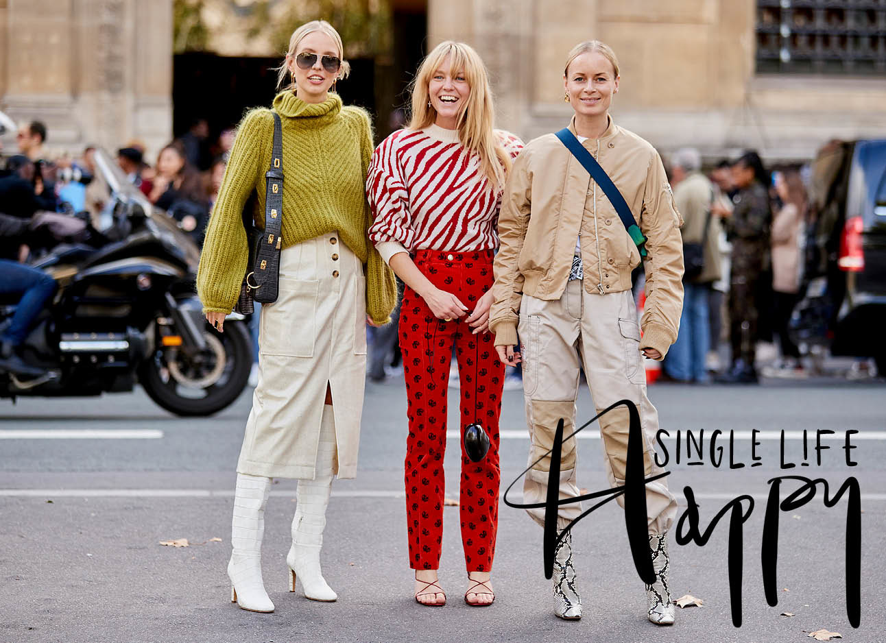 3 vrouwen Paris fashion week