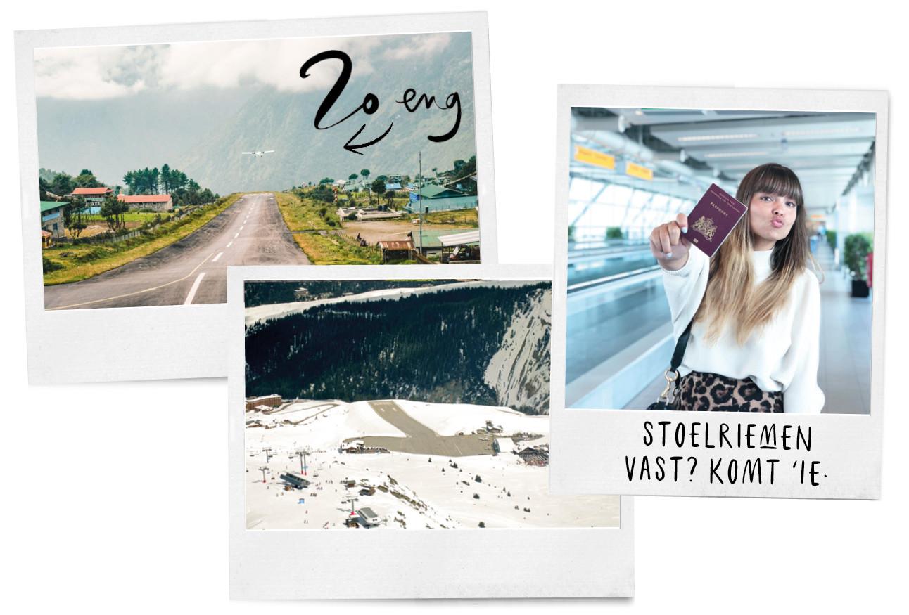 De engste vliegvelden, Kiki op een airport met haar paspoort