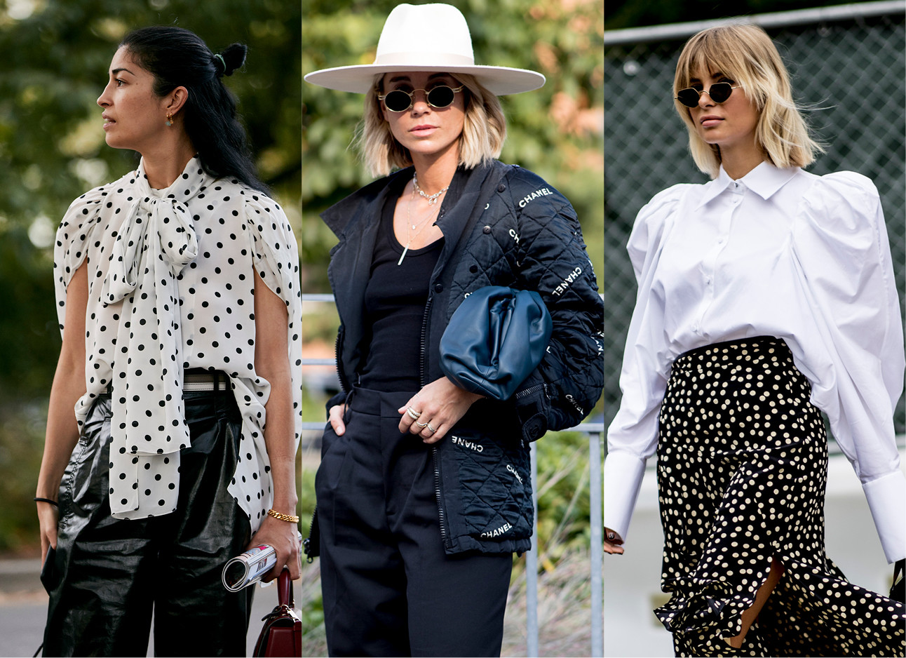 dots black and white streetstyle