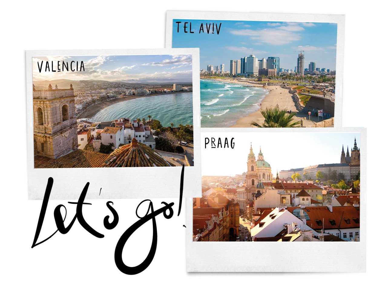 afbeelding van Praag, Valencia en tel aviv