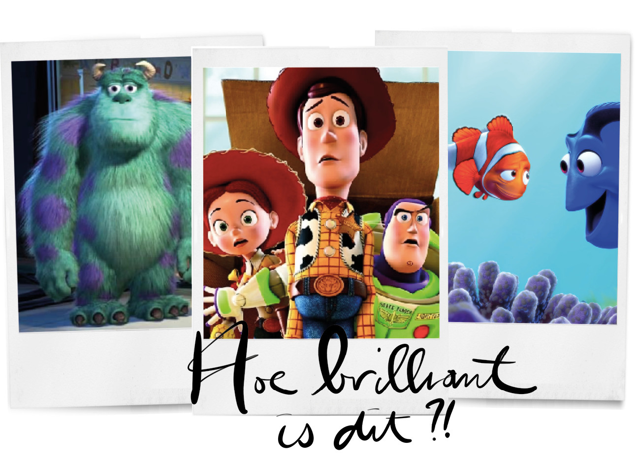 polaroids disney pixar monsters inc toy story 3 finding nemo hoe brilliant is dit?