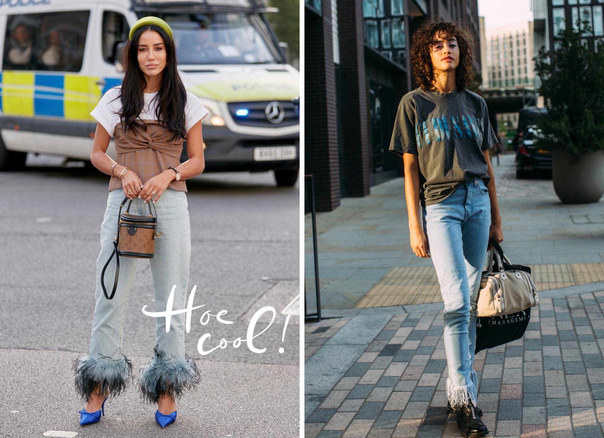 5. Jeans worden dit seizoen in veertjes gedipt thaks to Prada.