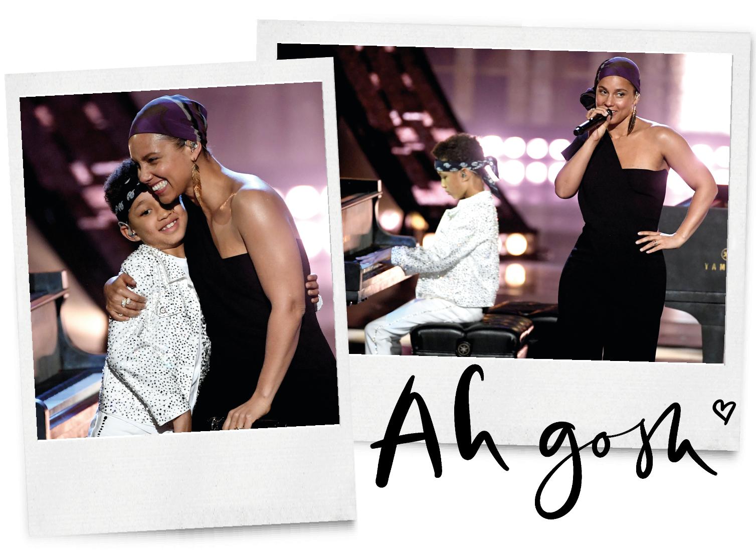 Alicia Keys die zingt met haar zoontje is wat je vandaag wilt zien