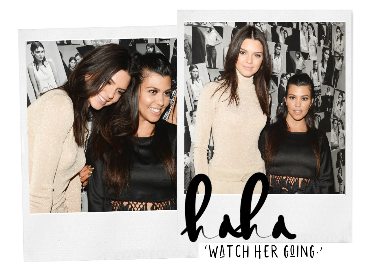Kourtney en Kendall Kardashian