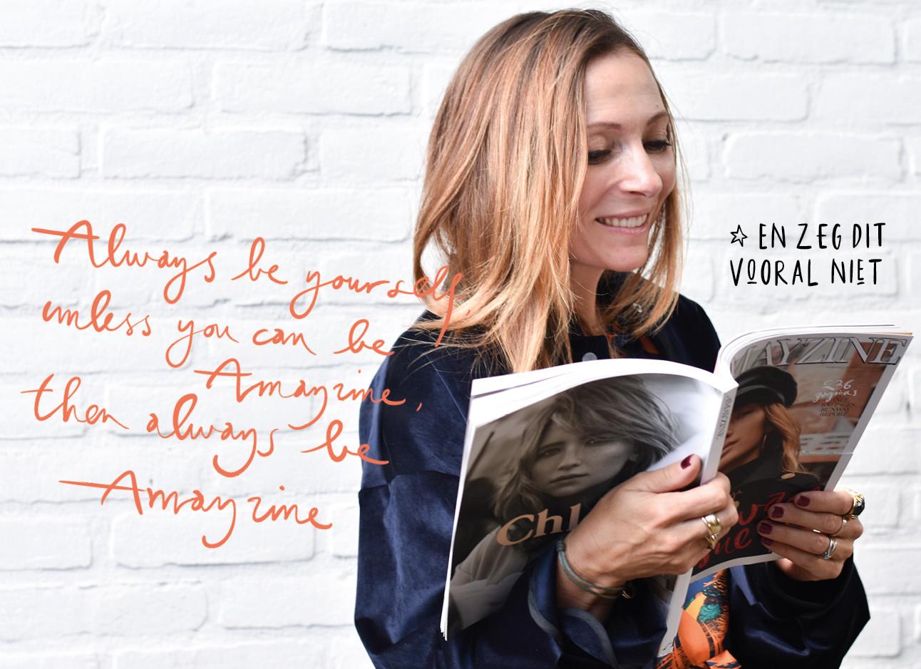 May-Britt lees haar eigen blad