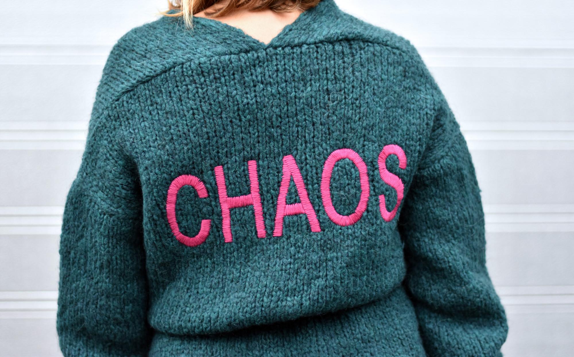trui met chaos erop