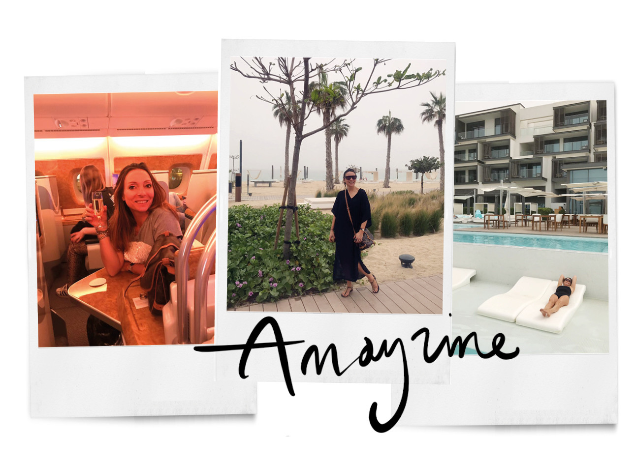 polaroids holiday dubai friends swimming pool hotel airplane