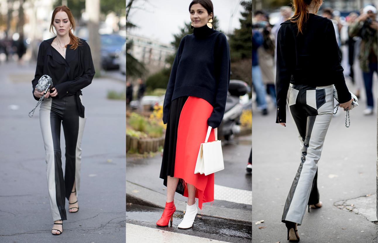 Beelden van kleding in 2 verschillende kleuren van de fashion weeks