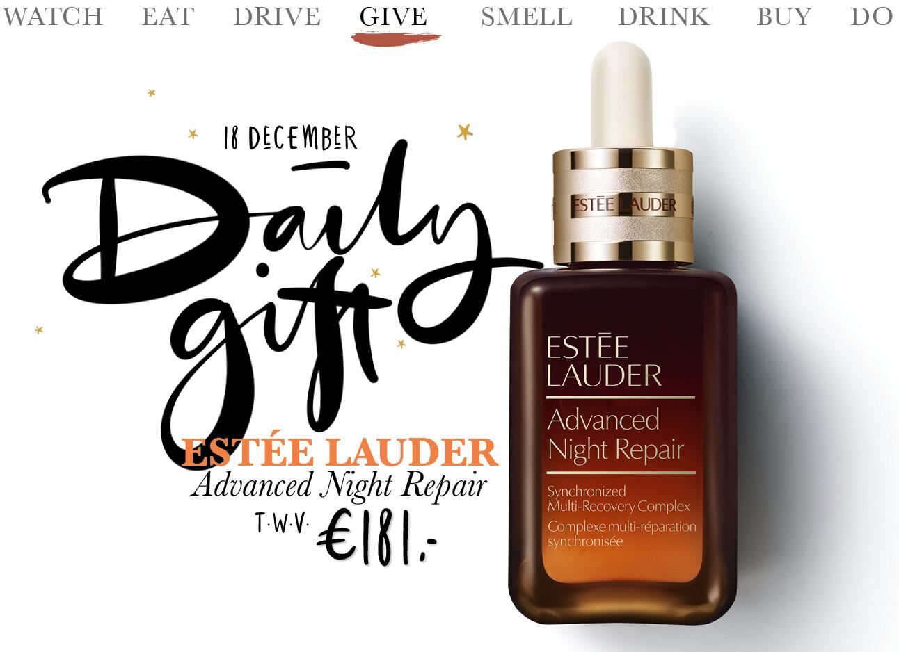 Today we give: een Estée Lauder Advanced Night Repair pakket