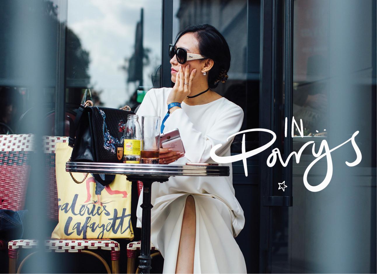 eten in parijs op terras