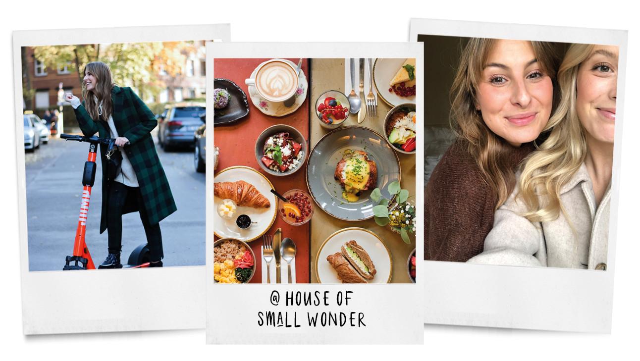 beelden van annabelle en lilian in een hotel en op straat in berlijn