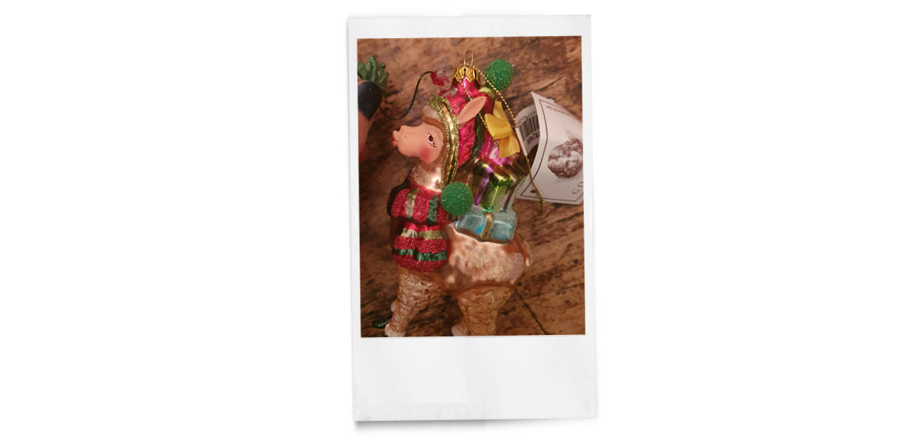 beeld van een hanger voor in de kerstboom