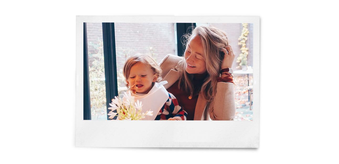 beelden van carolien spoor met haar familie