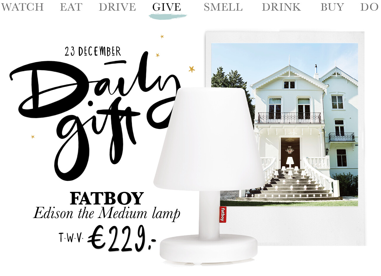 Today we give: een Fatboy Edison the Medium lamp
