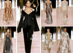 Demi rockt de runway en Kate Moss is grijs