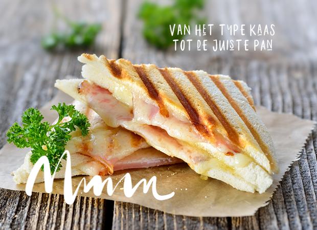 Een afbeeldingen van een ham kaas toasti