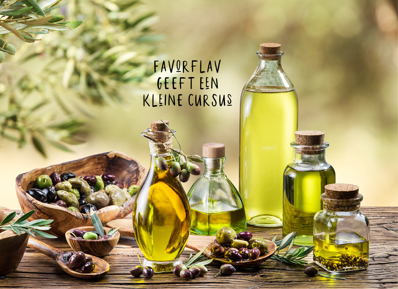 Allemaal soorten olijfolie