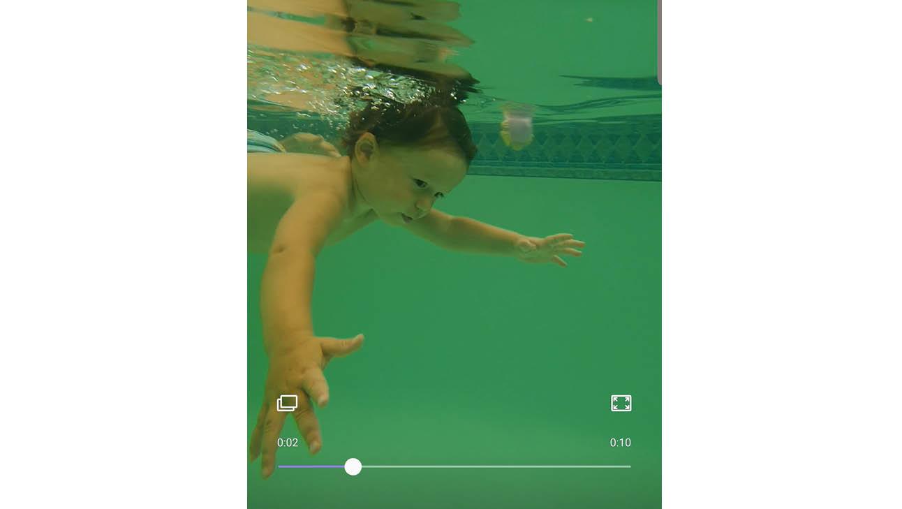otis zwemt onder water