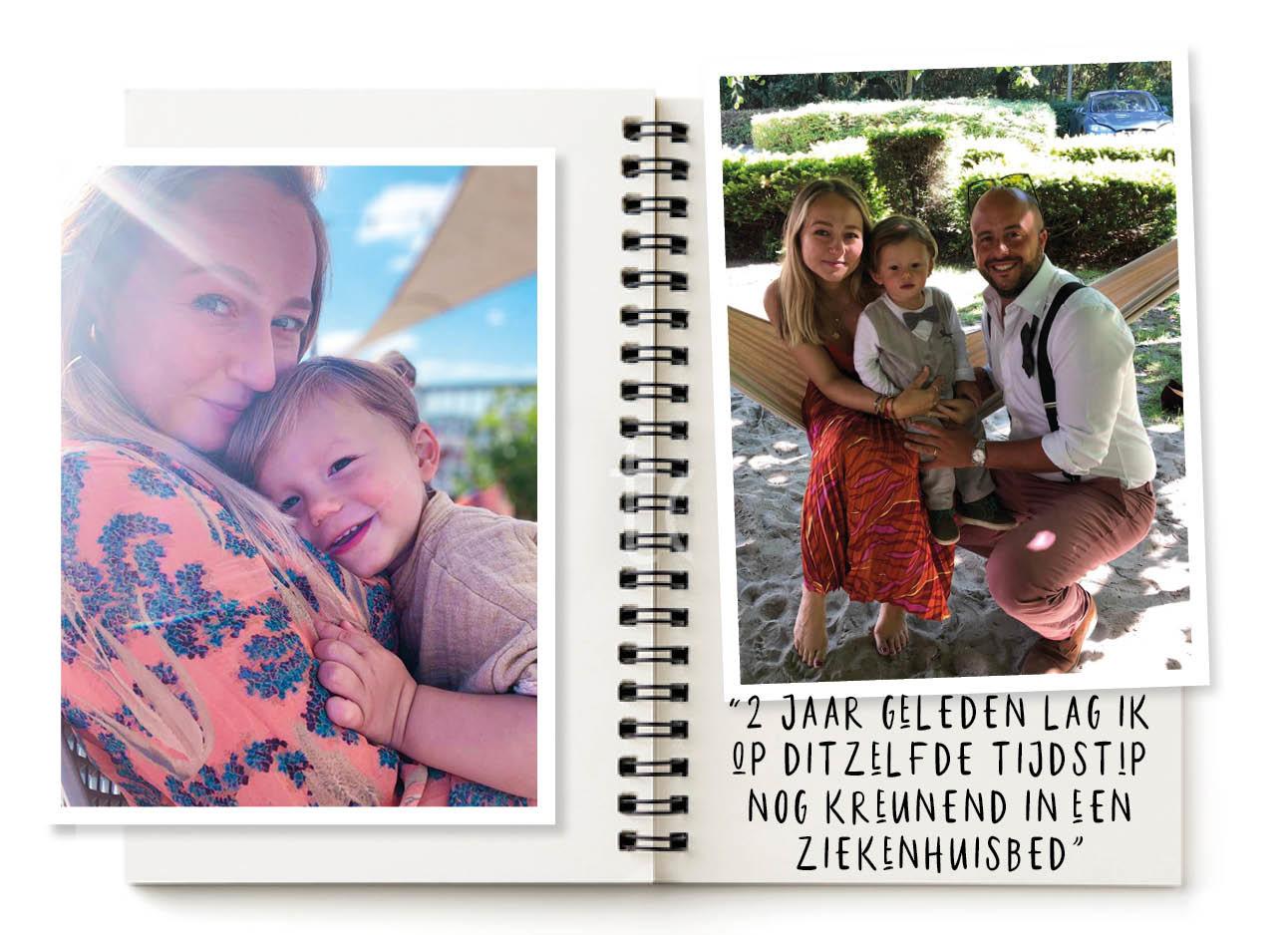 carolien spoor fast lane life, knuffelen met otis en het hele gezin