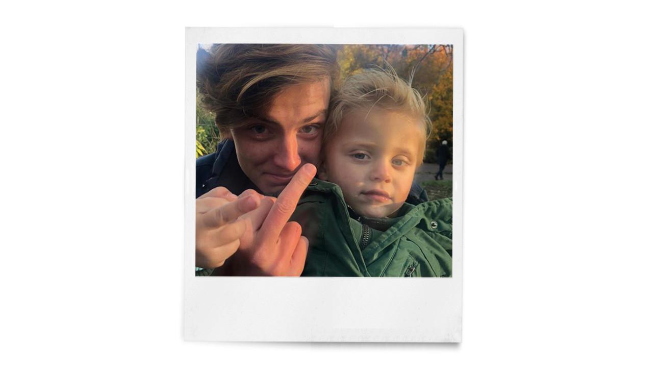 Foto van monique met haar zoon