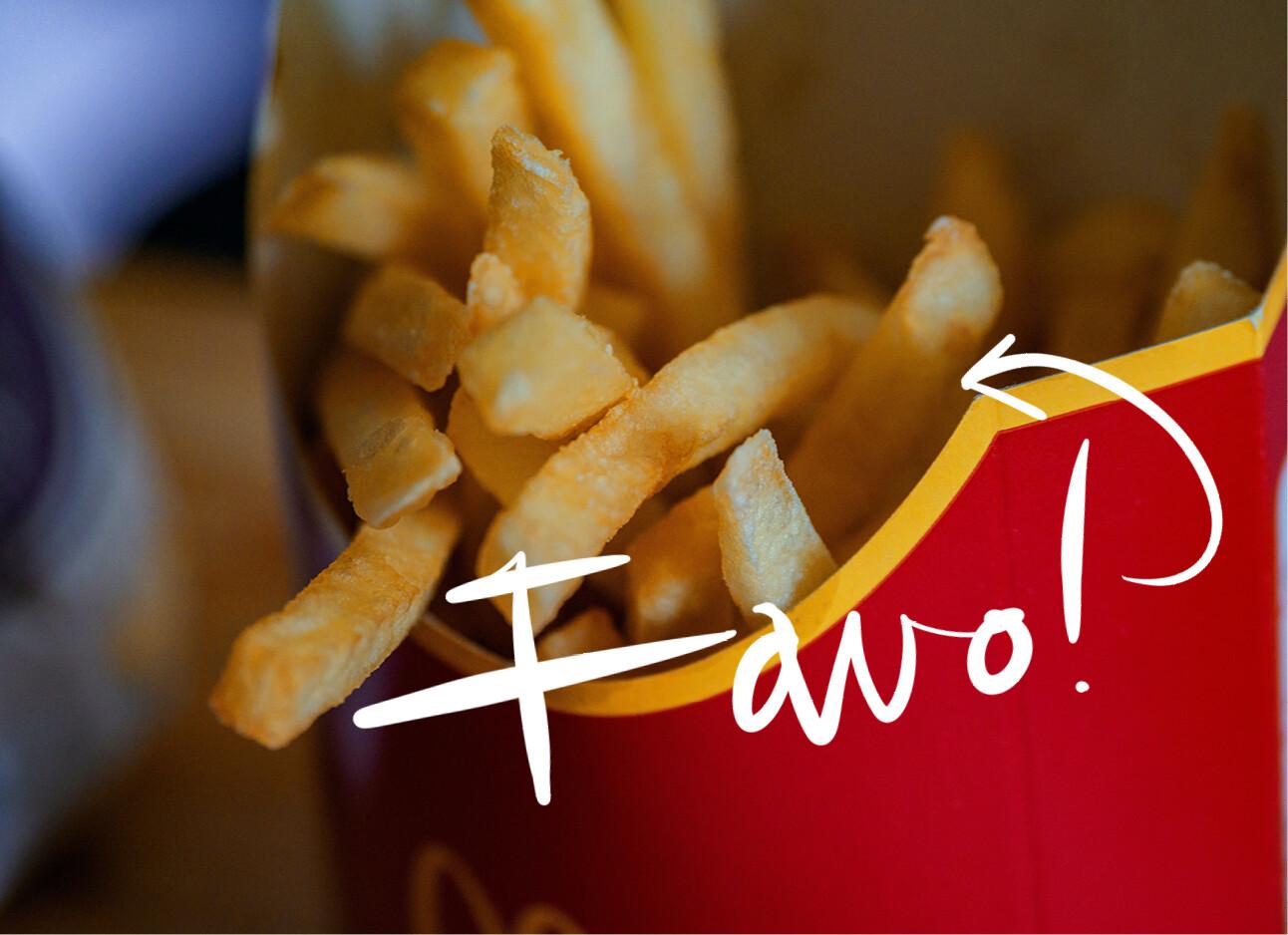 Whut? McDonald's maakt hun frietjes dus expres zo verslavend