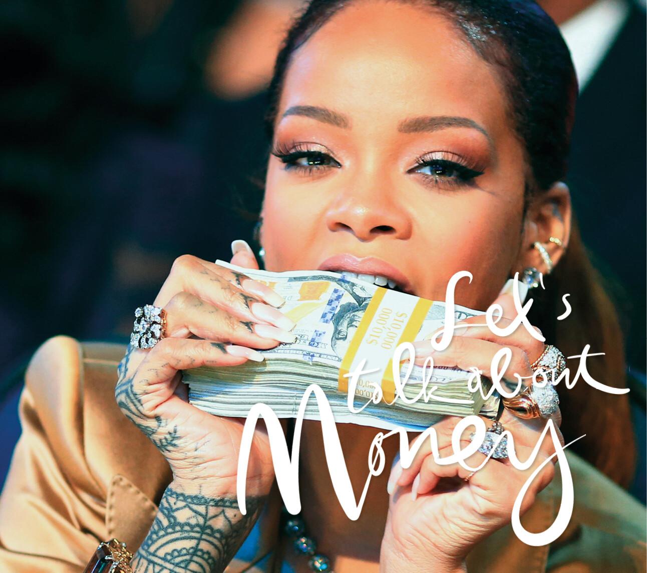 Rihanna met dollars