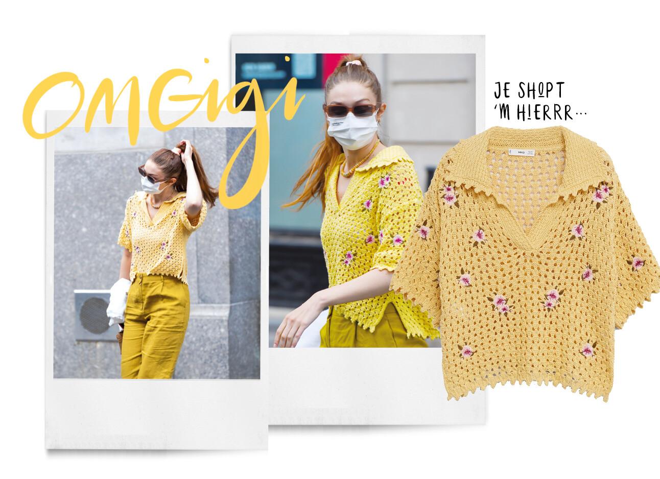Wil je hebben: Gigi Hadids crochet top van Mango
