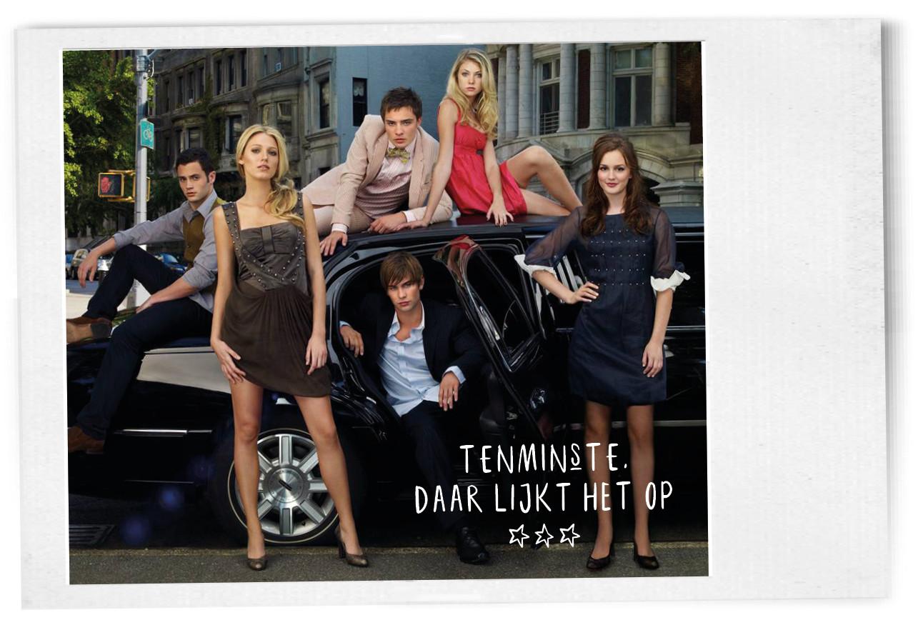 Gossip Girl Cast voor een auto