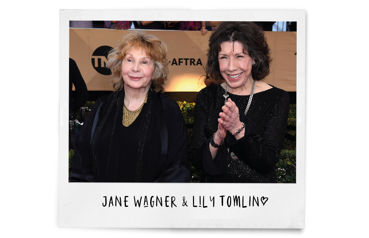Jane Wagner (L) and actor Lily Tomlin