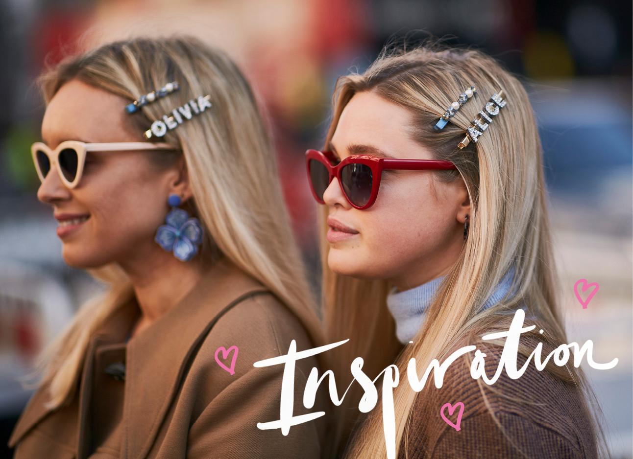 twee vrouwen met zonnebrillen en hair clips inspiration trend