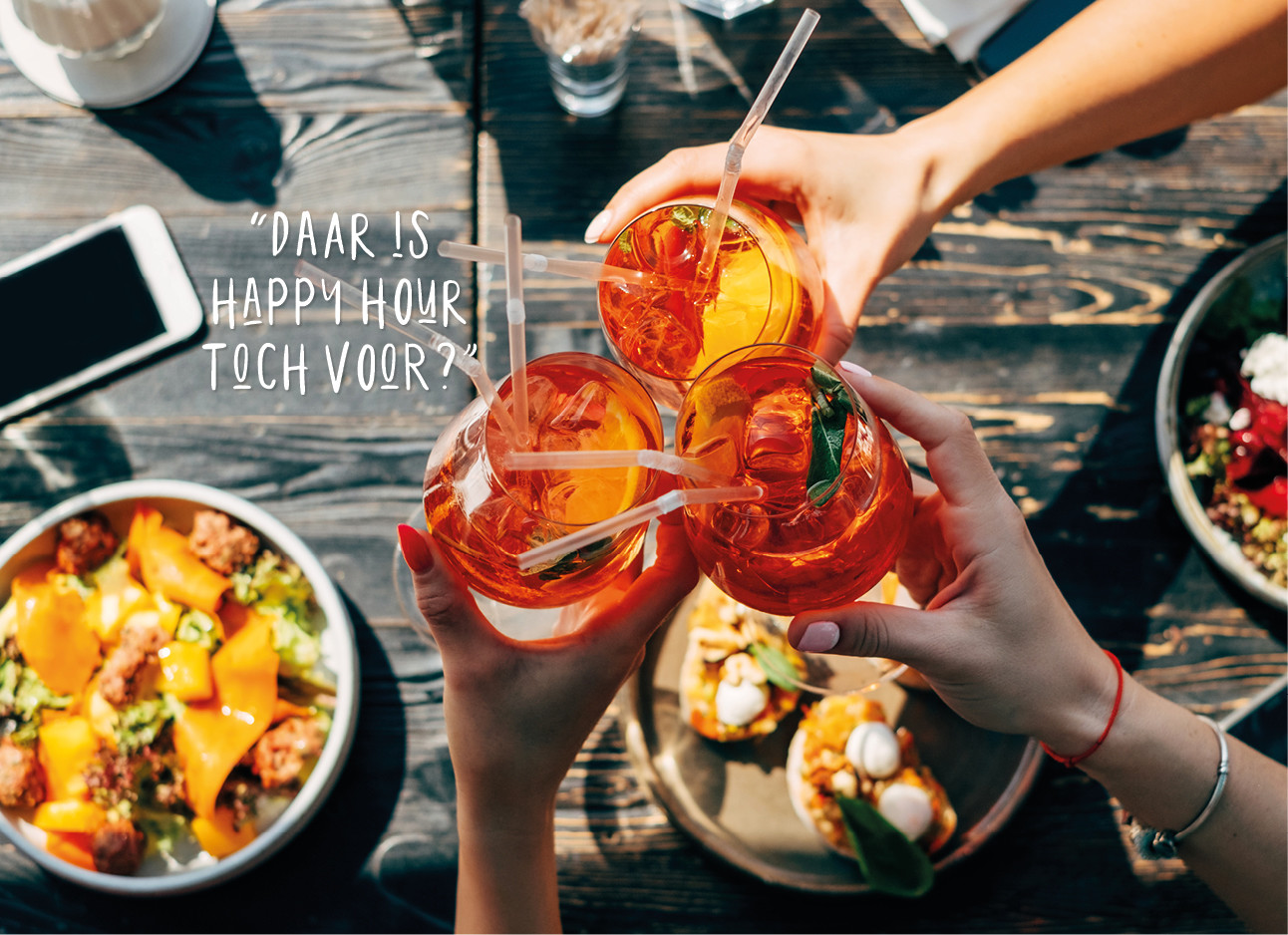 Wel of niet: drank bestellen 5 minuten voor happy hour eindigt